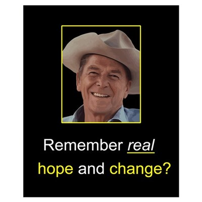 Reagan Remember Real Hope Framed Print
