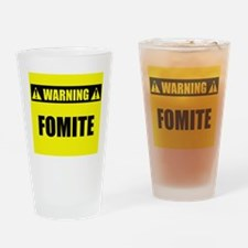 WARNING: Fomite Drinking Glass