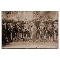 Pancho Villa & Staff Poster