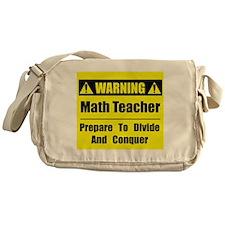 WARNING: Math Teacher 1 Messenger Bag