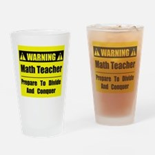 WARNING: Math Teacher 1 Drinking Glass