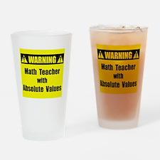 WARNING: Math Teacher 2 Drinking Glass