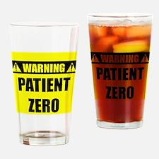 WARNING: Patient Zero Drinking Glass