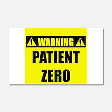 WARNING: Patient Zero Car Magnet 20 x 12
