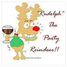 Sloshed Rudolph Poster