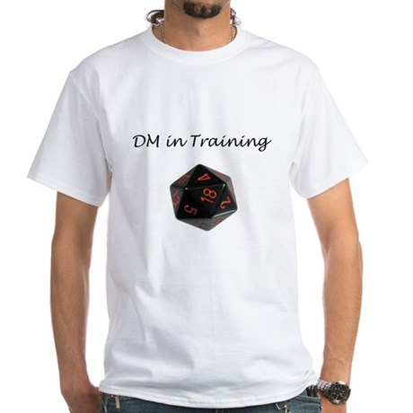 DM in training shirt White T-Shirt