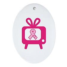 BreastCancerAwareness Ornament (Oval)