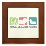 Peace, Love, Skye Terriers Framed Tile