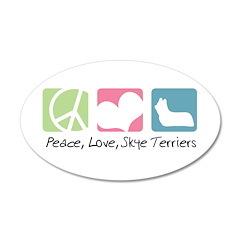 Peace, Love, Skye Terriers 38.5 x 24.5 Oval Wall P