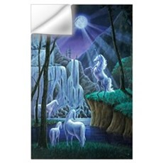 Unicorns in the Moonlight Wall Decal
