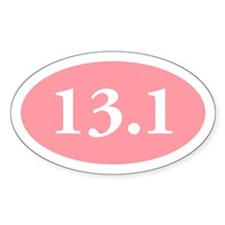13.1 Pink Oval Decal