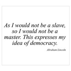 Abraham Lincoln quote 10 Poster