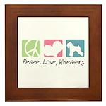 Peace, Love, Wheatens Framed Tile