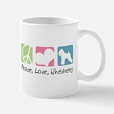 Peace, Love, Wheatens Mug