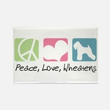 Peace, Love, Wheatens Rectangle Magnet (10 pack)