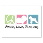 Peace, Love, Wheatens Small Poster