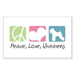 Peace, Love, Wheatens Decal