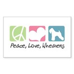 Peace, Love, Wheatens Sticker (Rectangle 10 pk)