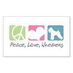 Peace, Love, Wheatens Sticker (Rectangle 50 pk)