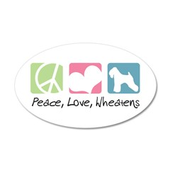 Peace, Love, Wheatens 38.5 x 24.5 Oval Wall Peel
