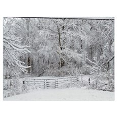 Eaton Ohio Winter Scene Poster