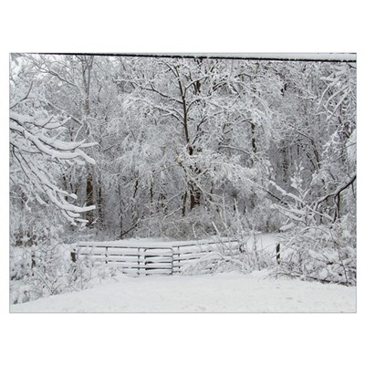 Eaton Ohio Winter Scene Poster