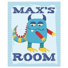 Max's ROOM Mallow Monster Poster