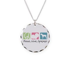 Peace, Love, Spinones Necklace