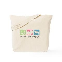 Peace, Love, Spinones Tote Bag