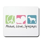 Peace, Love, Spinones Mousepad