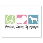 Peace, Love, Spinones Small Poster