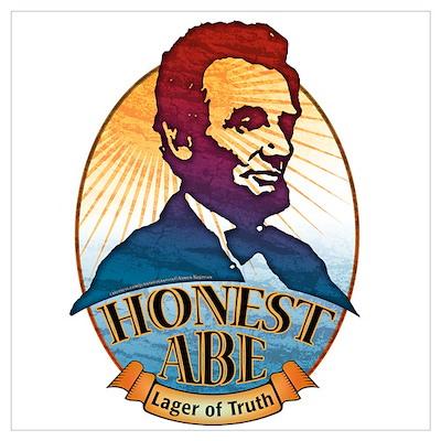 Honest Abe Beer Label Poster