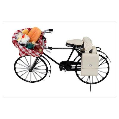 Bicycle picnic Poster