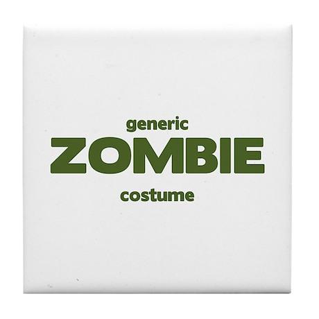 Generic ZOMBIE Costume Tile Coaster