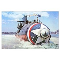 USS WILL ROGERS Poster