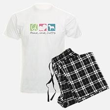 Peace, Love, Staffys Pajamas