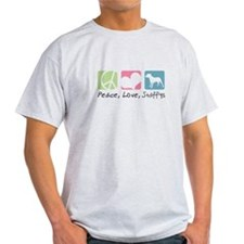 Peace, Love, Staffys T-Shirt