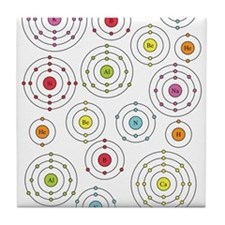 Periodic Shells Tile Coaster