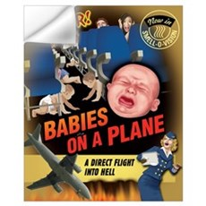 Babies on a Plane Wall Decal