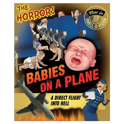 Babies on a Plane Poster