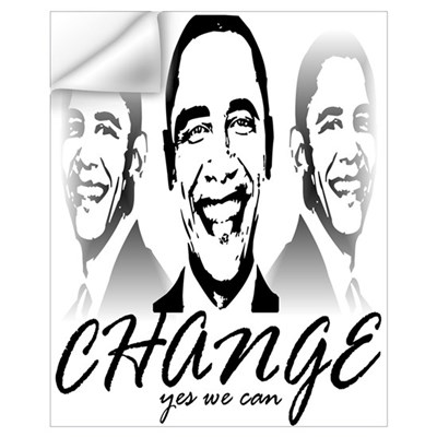 Change Yes We Can Wall Decal
