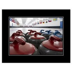 Curling Club Stones 18x24 Poster