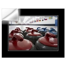 Curling Club Stones 18x24 Wall Decal