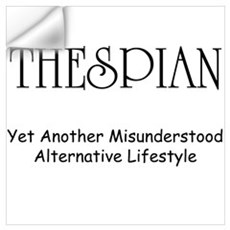 Misunderstood Thespian Wall Decal