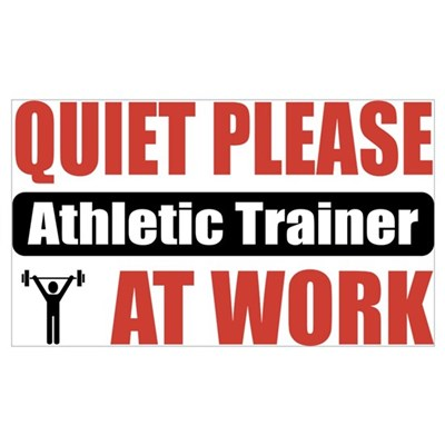 Athletic Trainer Work Poster