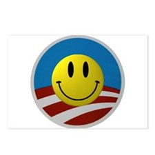 Obama Smiley Logo Postcards (Package of 8)