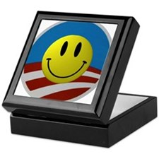 Obama Smiley Logo Keepsake Box