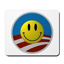 Obama Smiley Logo Mousepad