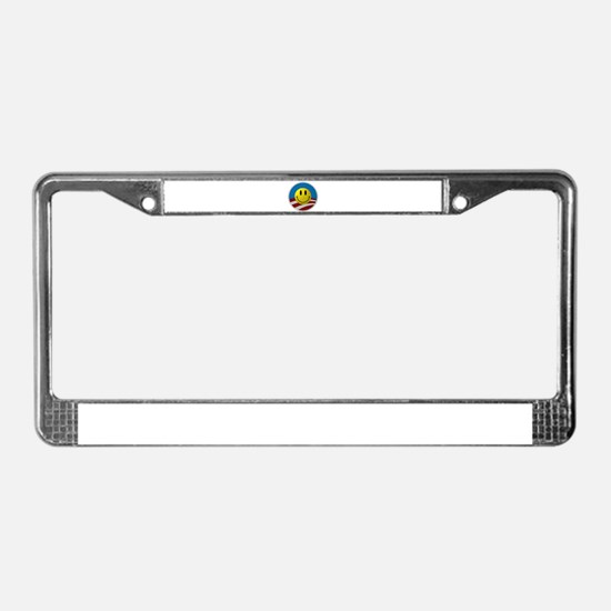 Obama Smiley Logo License Plate Frame