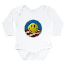 Obama Smiley Logo Long Sleeve Infant Bodysuit